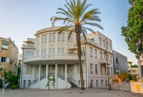 Old town hall called beit Ha'ir at Bialik square in Tel Aviv, Israel © dudlajzov