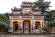Damaged gate in the Imperial City of Hue, former imperial capital of Vietnam
