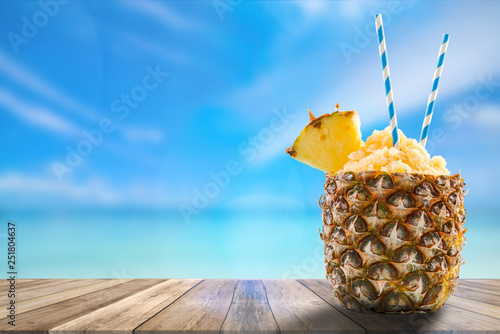 exotic drink, boards product display, montage and presentation - 251804637