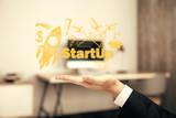 Business scheme concept, startup double exposure background. - 251818616