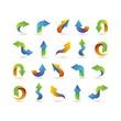 set of arrow logo collection