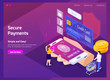 Financial Technology Isometric Web Page