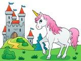 Fototapeta Konie - Fairy tale unicorn theme image 6 © Klara Viskova