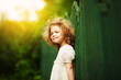 Leinwandbild Motiv Happy cheerful little girl