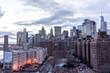 New York City panorama skyline at sunrise