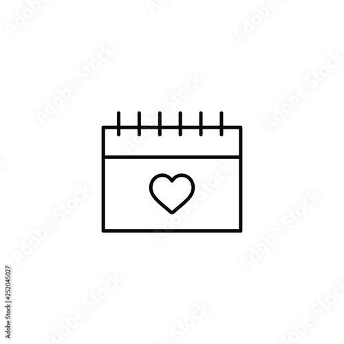 Happy valentine's day calendar line icon  © Jagrutiben