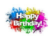 Paint Splatter - Happy Birthday