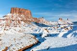 Ida Gulch and Snowy Castle Valley Mesas