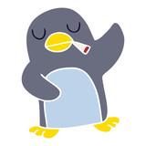 quirky hand drawn cartoon penguin