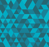 Seamless abstract colorful triangle geometrical background. Endless pattern. Seamless vector illustration. - 252131691