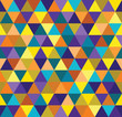 Seamless abstract colorful triangle geometrical background. Endless pattern. Seamless vector illustration.