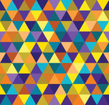 Seamless abstract colorful triangle geometrical background. Endless pattern. Seamless vector illustration. - 252132052