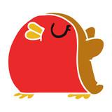 cartoon cute kawaii red robin