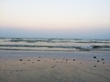 The sea in the evening and the comfortable atmosphere