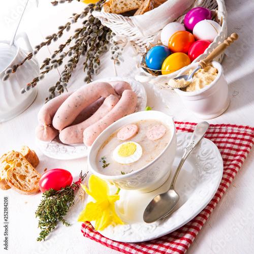 Zurek delicious easter soup after polish style