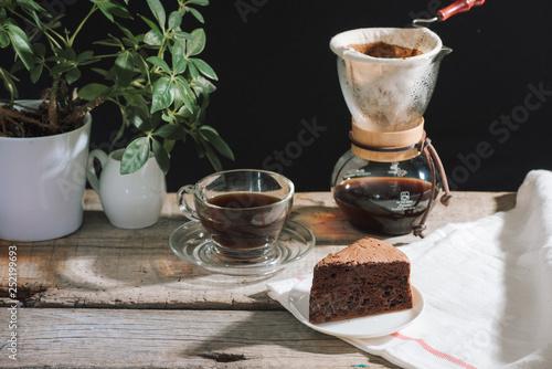 prepare drip coffee set for afternoon break under sunlight © makistock