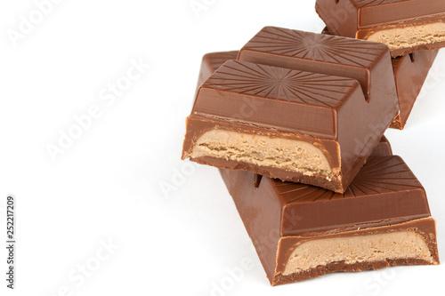 mata magnetyczna Chocolate candy isolated on white
