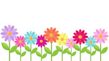 vector card template with bright daisy flowers and place for your text