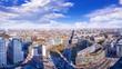 Leinwanddruck Bild - panoramic view at the city center of berlin
