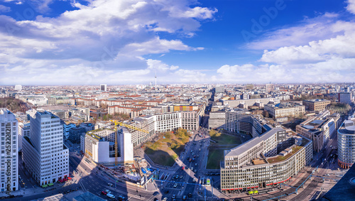 panoramic view at the city center of berlin - 252221211