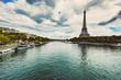 Eiffel Tower and Seine River in Paris