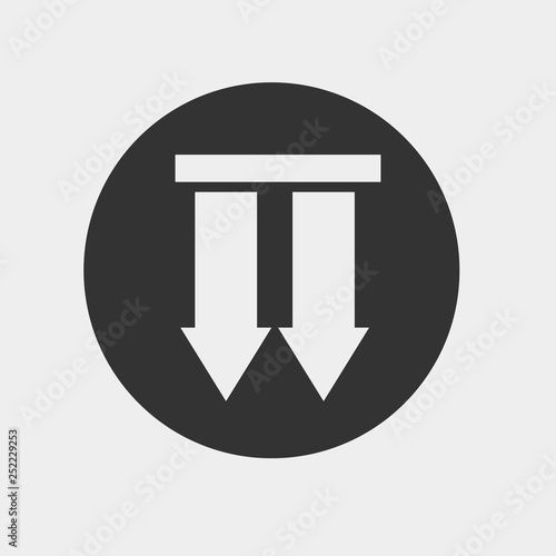 down arrows package icon