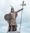 Estatua de un Inca  en la Alameda de los Incas Cajamarca Perú