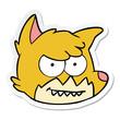 sticker of a cartoon fox face