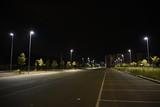Night illuminated parking car area