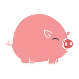 quirky hand drawn cartoon pig