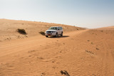 Off-road vehicle on a track in the Wahiba Sand Desert (Oman)