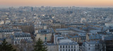 Fototapeta Paryż - Paris, France - 02 24 2019: Montmartre at sunset. View of Paris from sacred heart © Franck Legros