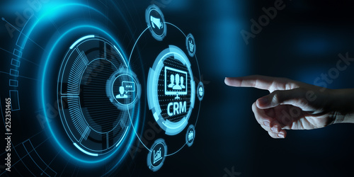 CRM Customer Relationship Management Business Internet Techology Concept