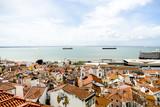 Fototapeta Miasto - houses in town of lisbon portugal, in Lisbon Capital City of Portugal © underworld