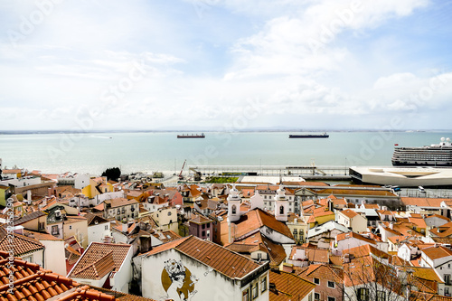 houses in town of lisbon portugal, in Lisbon Capital City of Portugal - 252358290