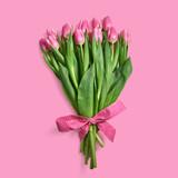 Fototapeta Tulipany - Bukiet różowych tulipanów © piotrszczepanek