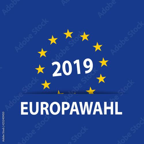 Leinwandbild Motiv Europwahlen Europawahl 2019