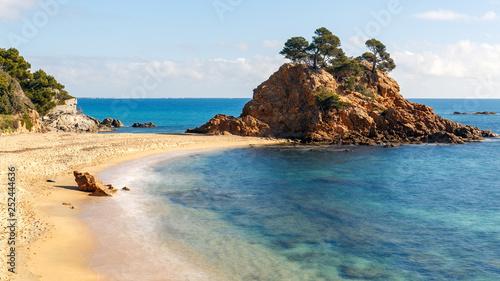 Leinwandbild Motiv Cap Roig, a Prominent Sea Stack in Costa Brava, Catalonia