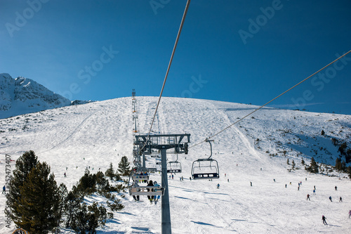 obraz lub plakat Ski resort slope