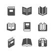 Set icons of book