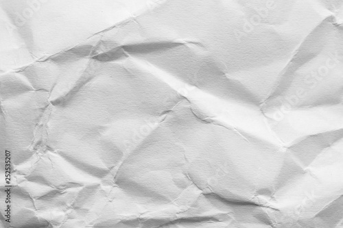 Leinwandbild Motiv Sheet of crumpled paper as background. Space for design