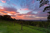 Fototapeta Na ścianę - Sunrise over the Glasshouse Mountains, Australia © Traceydee