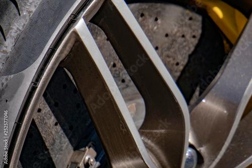Race car brake disc detail - 252577046