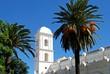 View of Santa Catalina church in the old town, Conil de la Frontera, Spain.