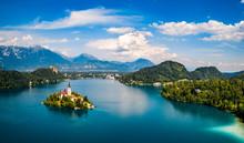 "Постер, картина, фотообои ""Slovenia - resort Lake Bled."""