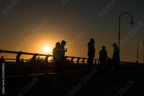 Sunset at St Kilda beach