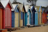 colorful beach huts in brighton Australia