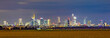 panoramic night view to skyline of Frankfurt an Main