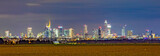 panoramic night view to skyline of Frankfurt an Main