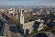 Drone shot of St.Patrick's Cathedral. Dublin, Ireland. February 2019 - 252612869